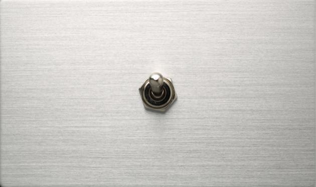 古典系列金屬銀/一開關蓋板組 1
