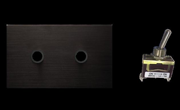 古典系列金屬黑/二開關蓋板組 3