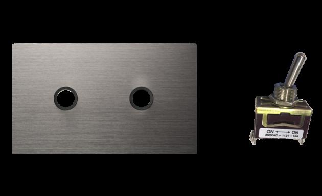 古典系列金屬灰/二開關蓋板組 3