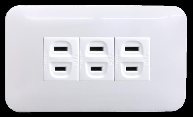 時尚基本款系列/三插座蓋板組 1
