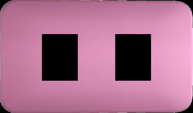 時尚馬卡龍系列蜜桃粉/二孔蓋板組 1