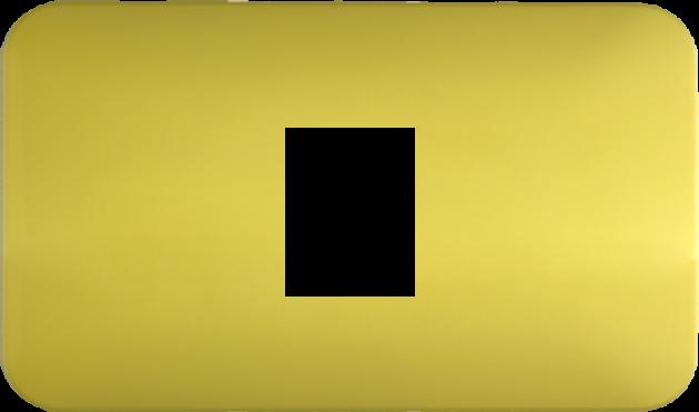 時尚馬卡龍系列檸檬黃/一孔蓋板組 1