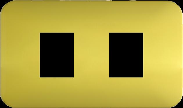 時尚馬卡龍系列檸檬黃/二孔蓋板組 1