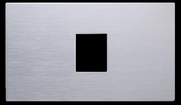 月光系列摩登銀/一孔蓋板組 1