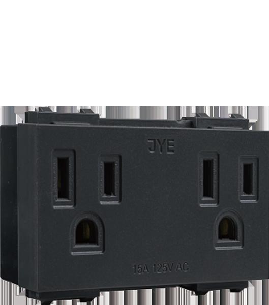 ECO摩登款/接地雙插座 (線徑φ5.5) 1